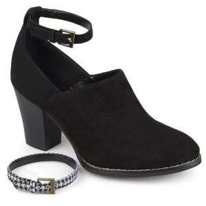 Black Ankle Strap Bootie from Journee Collection